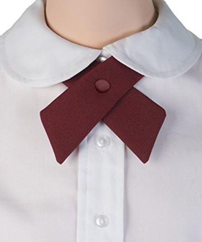 TopTie Criss-Cross Tie, Girls' School Uniform Cross Tie-Black by TOPTIE (Image #2)