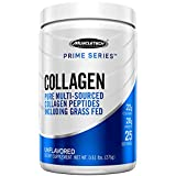 MuscleTech Prime Series Collagen Peptides, Multi-Sourced Type I & III Hydrolyzed Collagen Including Grass Fed, Unflavored, 25 Servings (276g) - Amazon Exclusive
