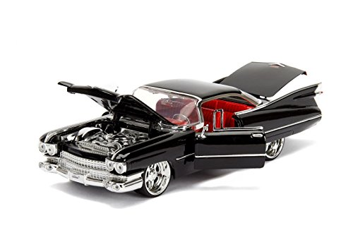 Cadillac Diecast Models - 1959 Cadillac Coupe DeVille Black 1/24 Diecast Model Car by Jada 99989