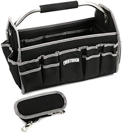 uyoyous 電工 工具袋 折畳みツールバッグ 道具袋 ツールキャリーバッグ 工具差し入れ ショルダー付き