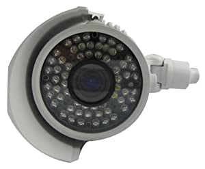 Vonnic C107W 1/3-Inch Sony CCD 550 TV Lines 60 IR LED Night Vision 200 Feet 2.8-12mm Varifocal Bullet Camera (White) by Vonnic