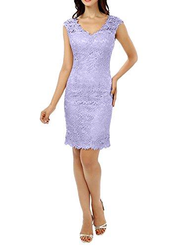 Kurzes Abschlussballkleider Damen Partykleider Ballkleider Abendkleider Abschlussballkleider Charmant Cocktailkleider Lilac Knielang Tg4qnO