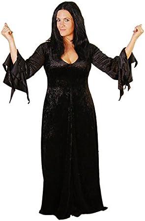 CL COSTUMES - Disfraz de Morticia Adams (incluye peluca, tallas 18 ...