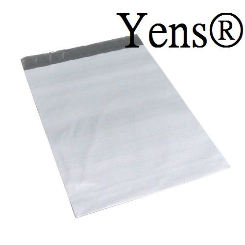 Yens Poly Mailers 100pk ENVELOPES SHIPPING BAGS Self-seal Poly Mailers. Tear-proof, Water-resistant and Postage-saving Lightweight Plastic Shipping Envelopes (M2:7.5X10.5) Corrugated Plastic Mailers