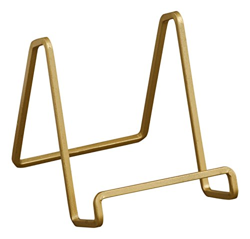 Tripar 50224 Square Wire Stand Plate Art Photo Holder, Gold ()