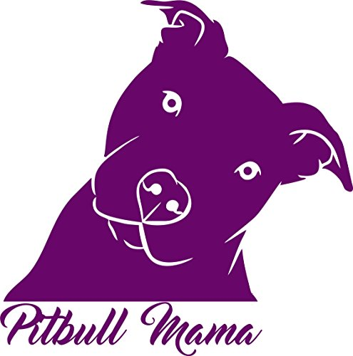 pitbull mama head tilt decal