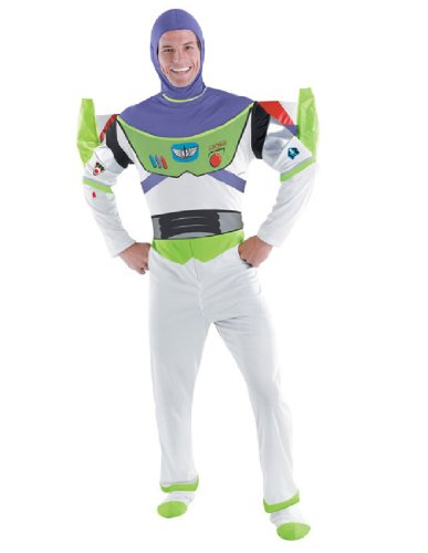 Disguise Toy Story Men's Buzz Lightyear Deluxe Adult,Multi,XL (42-46) Costume (Buzz Lightyear Fancy Dress Adult)