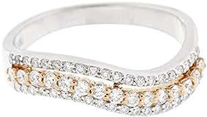 Women's 18K White Gold Diamond Ring - Size 7 US
