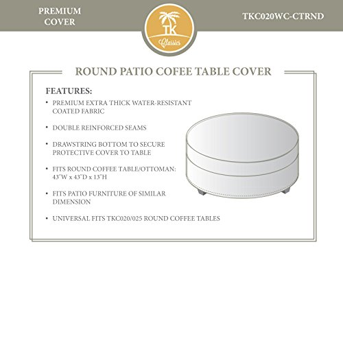 Bermuda/Tuscan/Miami Round Coffee Table Outdoor Protective - At Falls Stores Miami The