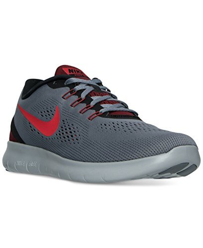 Nike Mens Free RN Running Shoe, Cool Grey/Action Red-Black-Team Red (10) by NIKE