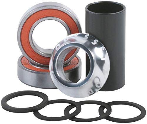 - Odyssey 22MM Mid Bottom Bracket Set w/o Spindle Hi-Polish