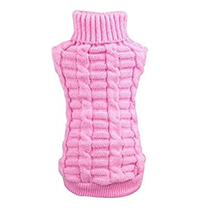 Norbi Small Pet Dog Cat Outdoor Warm Puppy Sweater Knitwear Clothes Jumper