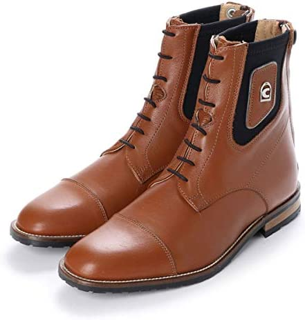 [スポンサー プロダクト]乗馬 ブーツ ショートブーツ Cavallo パドックスポーツ 本革 ショートブーツ 乗馬用品 馬具