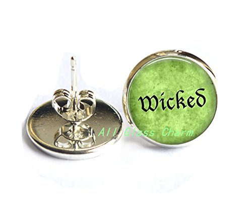 Charming Earrings,Halloween Costume Earrings Stud Earrings - Wicked - Wicked Earrings - Wicked Stud Earrings - Witchy Woman - Witch Jewelry,AS030 -