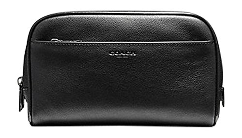 Coach Men's Travel Kit Black Leather F59884 by Coach