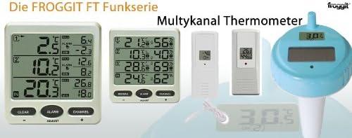 Funk Thermometer FT0073 mit 3 Innen// Aussenensoren Luftfeuchte Display Min//max