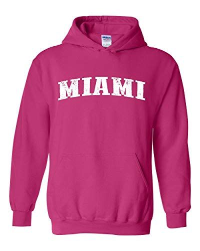 Florida Miami Home Traveler`s Gift Unisex Hoodie (MHP) Heliconia Pink