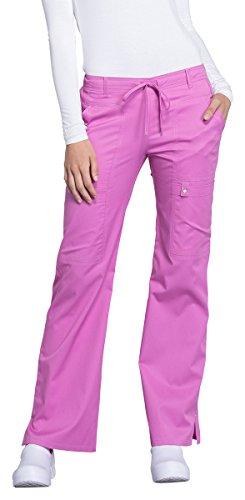 Modern Flare Pants (Cherokee Luxe Women's Flare Leg Drawstring Scrub Pant XX-Large Berry Bodacious)