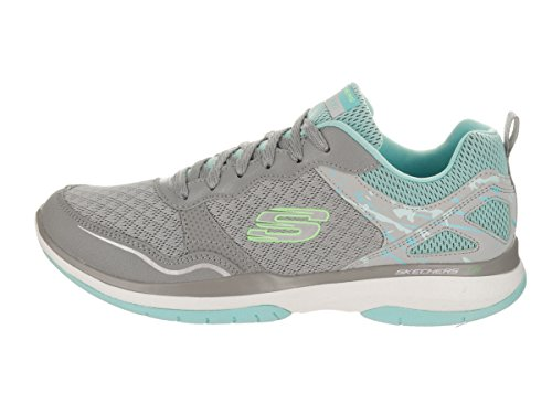 Skechers Burst TR Women's Sneakers Gray/Blue discount latest sale perfect wide range of cheap price buy cheap 100% guaranteed free shipping with credit card 3EGSkptPJ