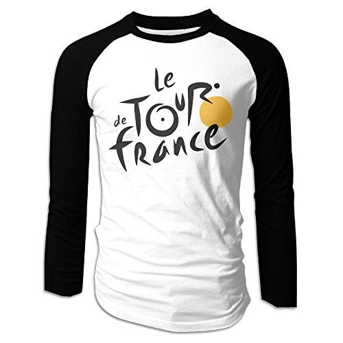 Jersey Cycling Gonzaga - LOVEGIFTTO Mens Logo Le Tour De France Long Sleeve Comfort Raglan Tee Shirt Medium
