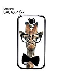 chen-shop design Geek Giraffe Nerd Geek Bow Tie Mobile Cell Phone Case Samsung Galaxy S4 Black high quality
