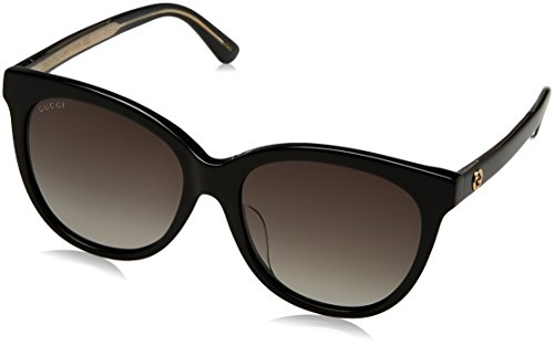 Gucci Fashion GG 0081SK Sunglasses 001 Black Grey Gradient - Sunglasses 0081