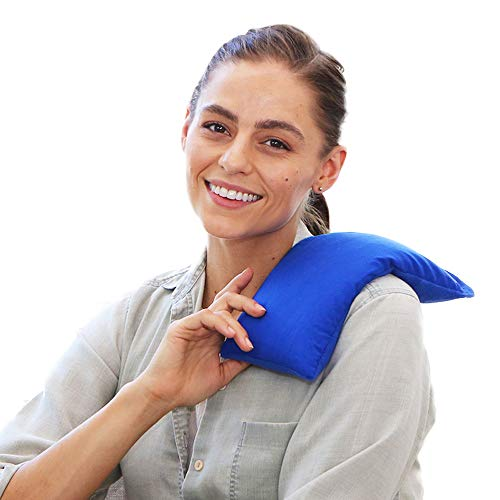 - My Heating Pad- Hot Therapy Pack Microwavable Natural Heat Therapy - Stress Relief (Blue)