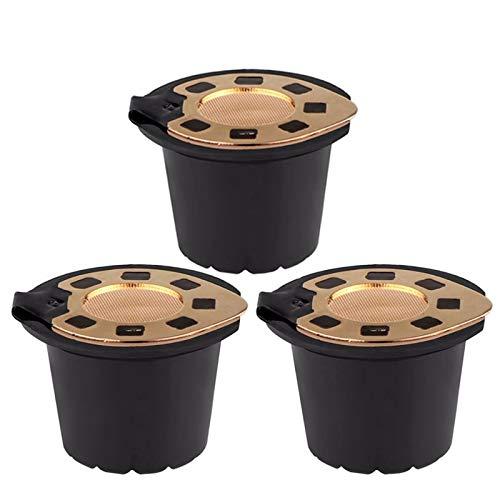 AQANATURE - Cápsula de café recargable Nespresso para cafetera ...