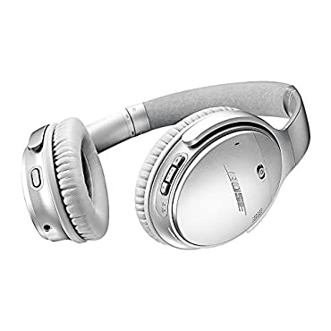 Bose QuietComfort 35 (Series II) Wireless Headphones, Noise Cancelling Silver