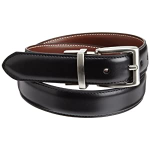Nautica Big Boys' Dress Reversible Belt With Contrasting Stitch