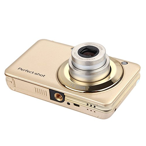 KINGEAR Optical 1280x720 Anti shake Camera Gold