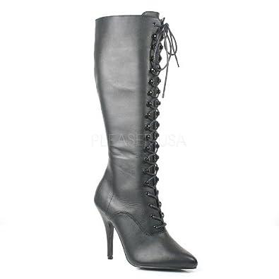 Pleaser Seduce-2020 - Sexy High Heels Leder Knie Stiefel 36-48, Größe