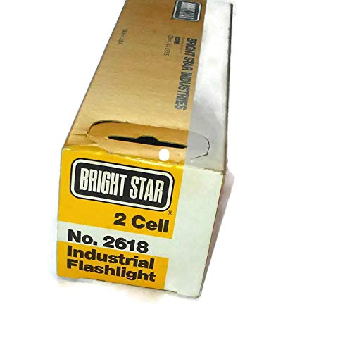 Torch Made In USA 2618 UK SELL Bright Star 2 cell Industrial Yellow Flashlight