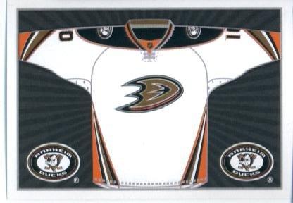 2014 Panini NHL Hockey Sticker (2014-15) #229 Anaheim Ducks Away Jersey Mint