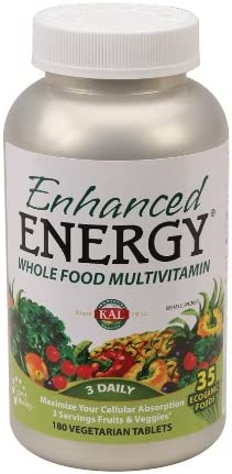 KAL – Enhanced Energy, Multivitamin, 180 Vegetarian Tablets