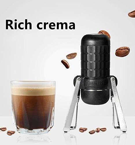 Machine à expresso portable 15-20 bar presse à la main machine à café à commande manuelle Minipresso pratique machine à expresso adaptée pour les voyages, le camping, la randonnée