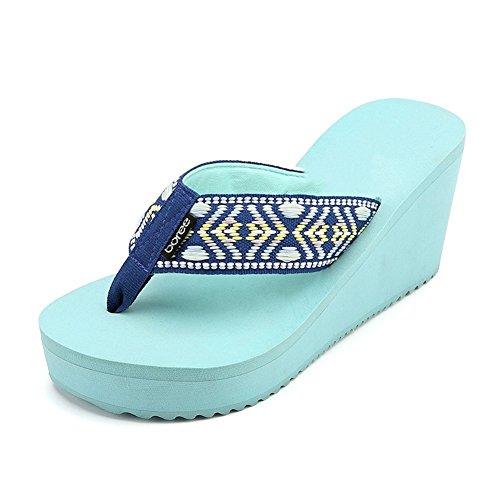 245 Azzurro dimensioni Usura Pantofole Esterna EU39 Punta Femmina Estate Azzurro Moda Colore US7 Colori UK6 4 Alunno PENGFEI 5 Cuneo Spiaggia HnO6604