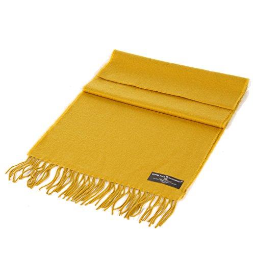 SERENITA Unisex Super Soft Cashmere Feel Solid Color Scarf New Mustard
