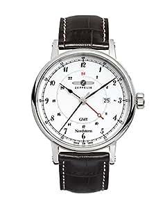 Graf Zeppelin Nordstern Series Swiss Quartz GMT Watch with Coin-Edge Case 7546-1