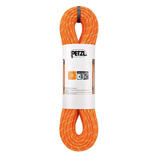 PETZL - Push 9 mm, Rope Designed for Independent Caving and Canyoning, Orange, 70 m