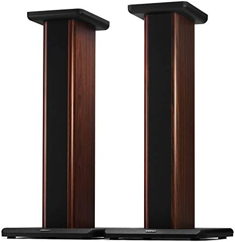 Edifier S2000MKIII Speaker Stands 2 Heavy Duty Hollowed Stands for Optional Sand Filling Tuning-Wood Grain Easy Assembly for Home Theater