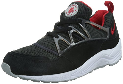 Nike Men Air Huarache Light Running Shoes Black / Red / Grey (Black / University Red-wolf Grey)