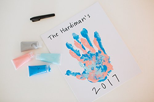 Pearhead DIY Handprint Frame and Paint Kit, Family Craft Night Ideas, DIY Gifts