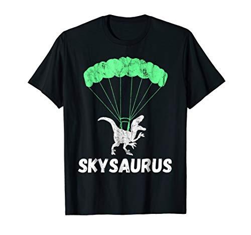 Skydiver Dinosaurs Skydiving Parachute Jumping Trex T-Shirt ()