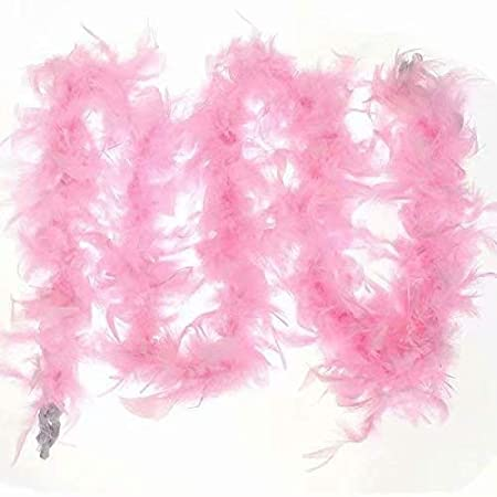 RICISUNG ideal for festive evenings Feather boa Black