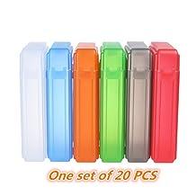 KSB Group 3.5 Inches IDE/SATA HDD Hard Drive Protection Storage Box Cas (20 PCS Random color)