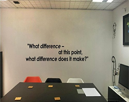 Quote It! - What Difference Does It Make Motivational Vinyl Wall Quotes, Inspirational Wall Quote, Decor, Hillary Clinton, Sayings, Phrases