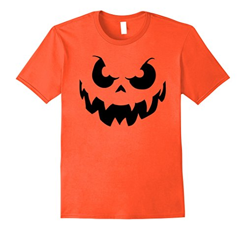 Mens All Hallows Eve Dark Evil Devil Halloween Pumpkin Face Shirt XL Orange - Adult Pumpkin Outfit