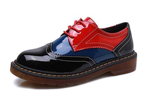 pour Chaussures Minotta Black Ville Bule Lacets de Red Femme à dXgpxgr