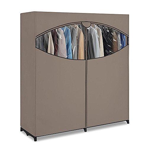 Generic NV_1008003698_YC-US2 orageOrg Wardrobe Home 60'' W Portable Closet be Ho Clothes Garment Rack othes Organizer 60'' ent R Hanger Storage Portabl by Generic